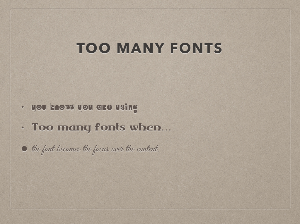 Fonts in Presentations